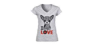 Camisetas con Chihuahuas dibujados
